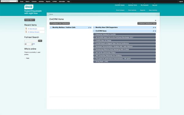 RNIB CiviCRM Database - Project Management